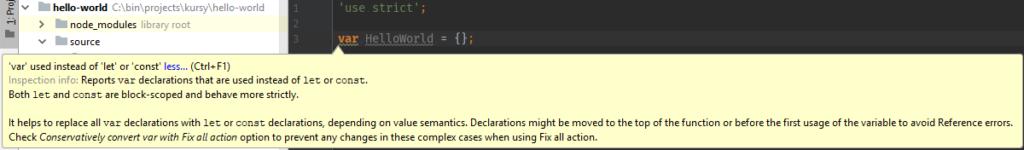 Gulp - skrypty nie działają, phpStorm radzi let lub const w miejsce var