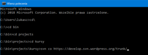 Pobieranie kodu WordPress za pomocą SVN