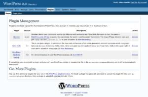 Wordpress v2.0 - wtyczki
